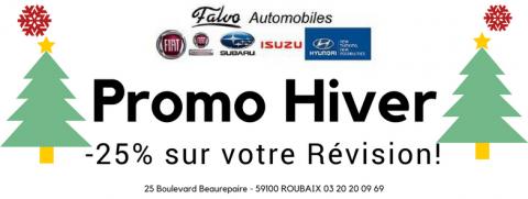 Promo Hiver: -25% sur votre prochaine révision!
