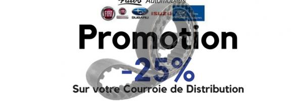 -25 % Sur votre Courroie de Distribution